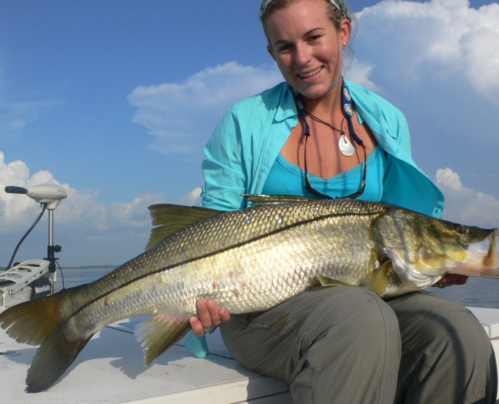 Posing with Sanibel Snook