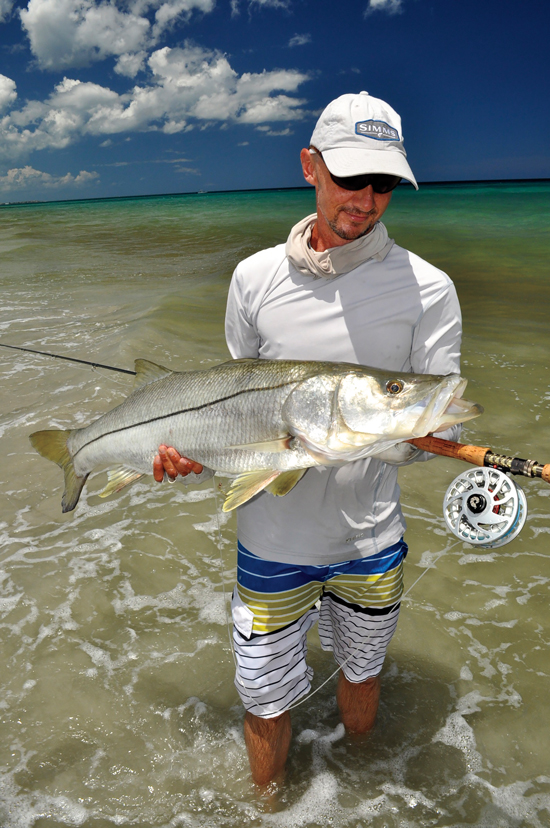 Sanibel Snook on beach