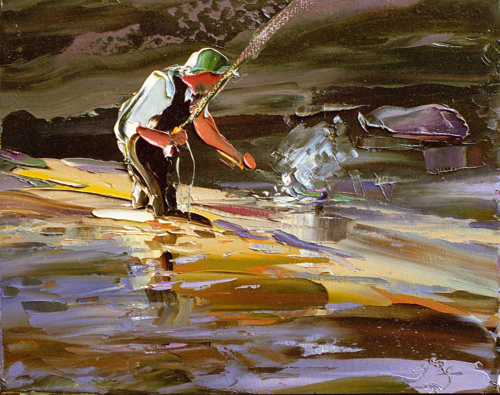 Fisherman with catch artwork