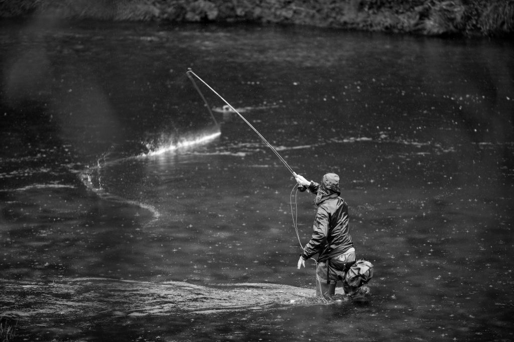 fly fisherman on the river