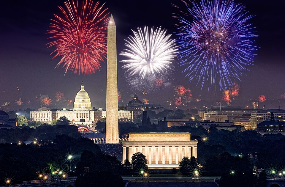 Fourth of July Fireworks over Washington, DC